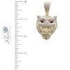 10k Yellow Gold 3.00ct Jaguar Head Pendant