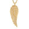 14k Yellow Gold 1.5ct Angel Wing Pendant