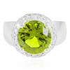 14K White Gold 1.35ct Diamond Peridot Ring
