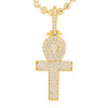 14k Yellow Gold 1.9ct Micro Ankh Pendant