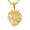 10k Yellow Gold .36ct Lions Head Pendant