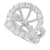 18K White Gold 2.75ct Engagement Ring Setting