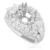18K White Gold 4.08ct Engagement Ring Setting