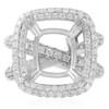18K White Gold 2.96ct Engagement Ring Setting