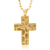 14k Yellow Gold 1ct Diamond Cross Pendant Back