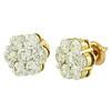 14k Yellow Gold 3.00ct Diamond Stud Earrings