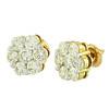 14k Yellow Gold 2.50ct Diamond Stud Earrings