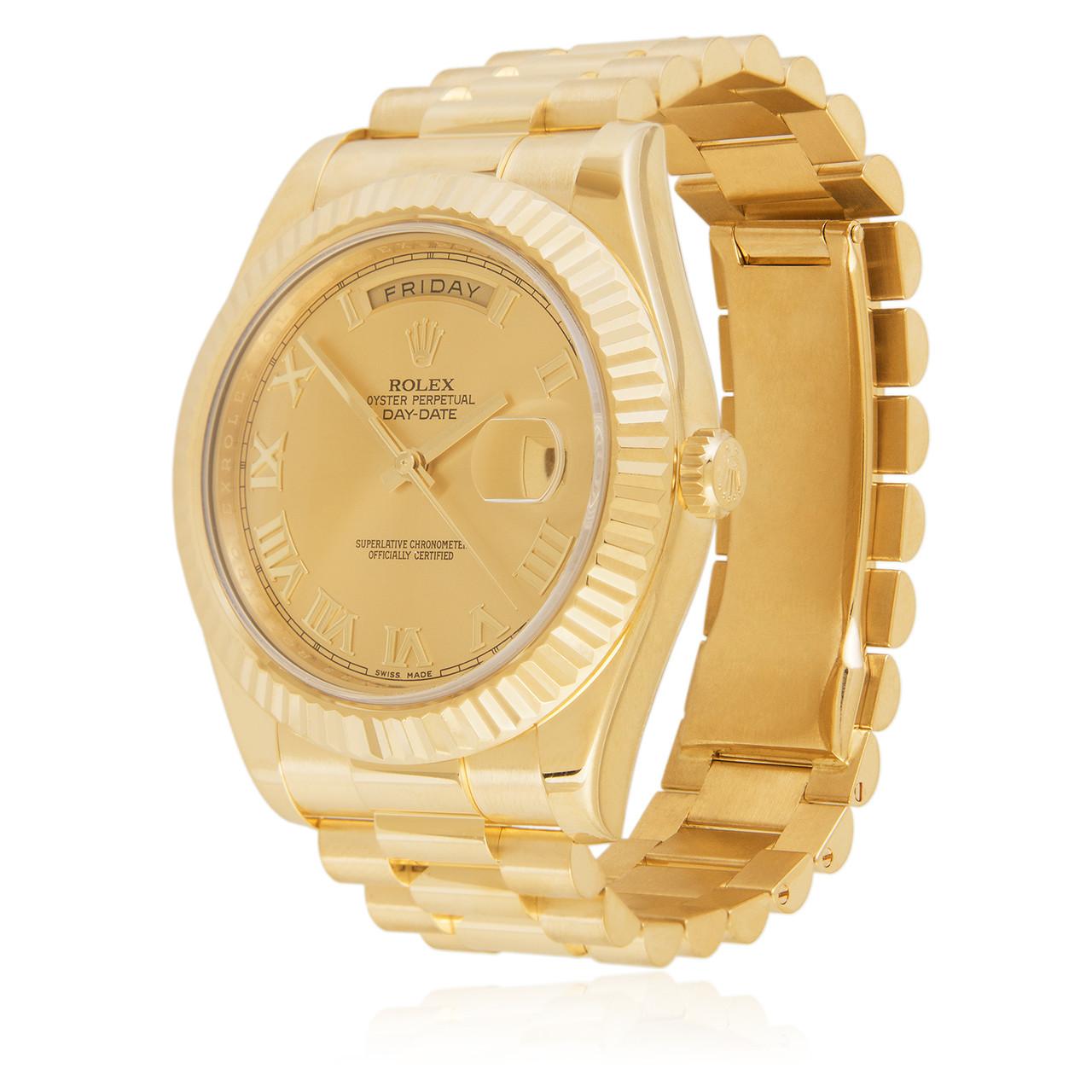 58fc9ba4ec75 Next. Rolex Day-Date II 18K Yellow Gold President Gold Dial Automatic Men s  Watch