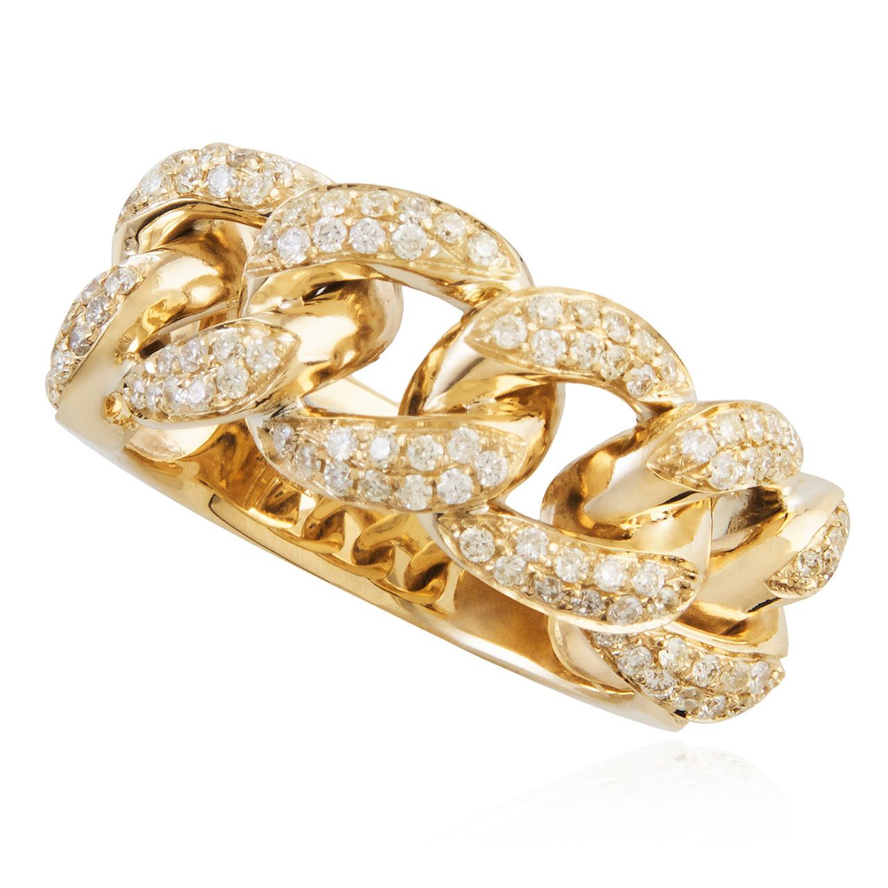 14k Yellow Gold 85ct Men S Diamond Ring Shyne Jewelers