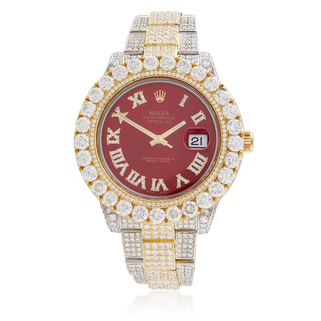 2ebe64a0b Rolex DateJust 18K Yellow Gold 29ct Diamond Automatic Men's Watch - Shyne  Jewelers
