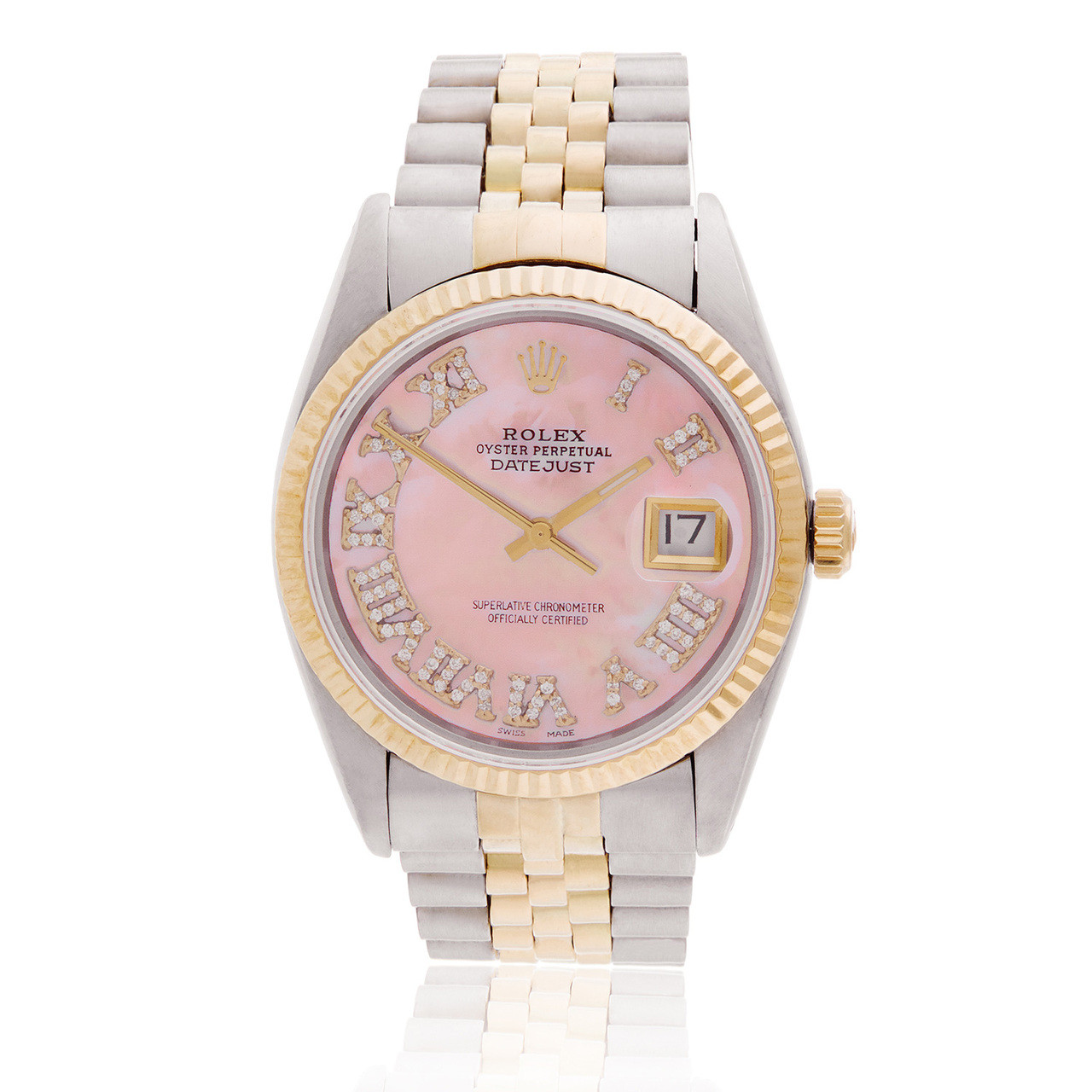 7294dedaf52 Rolex DateJust 36 Pink Mother of Pearl Automatic Men's Watch - Shyne  Jewelers