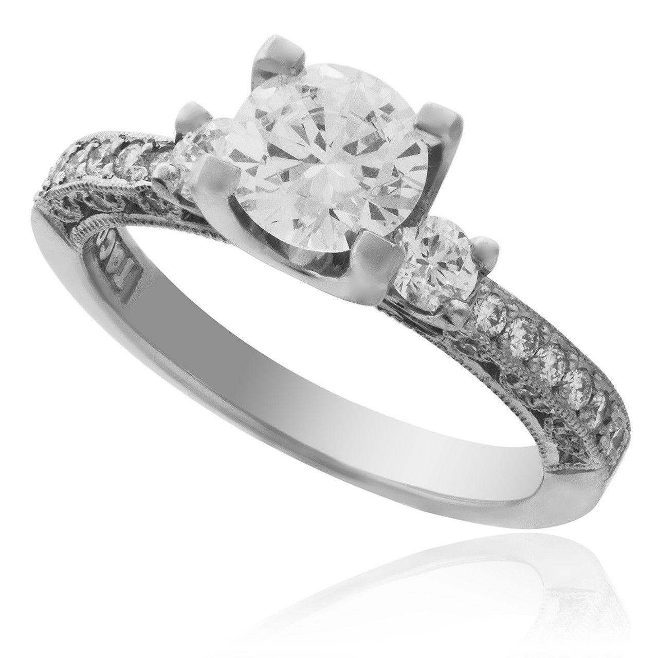Tacori Enement Ring Settings | Tacori Platinum 48ct Engagement Ring Setting Shyne Jewelers