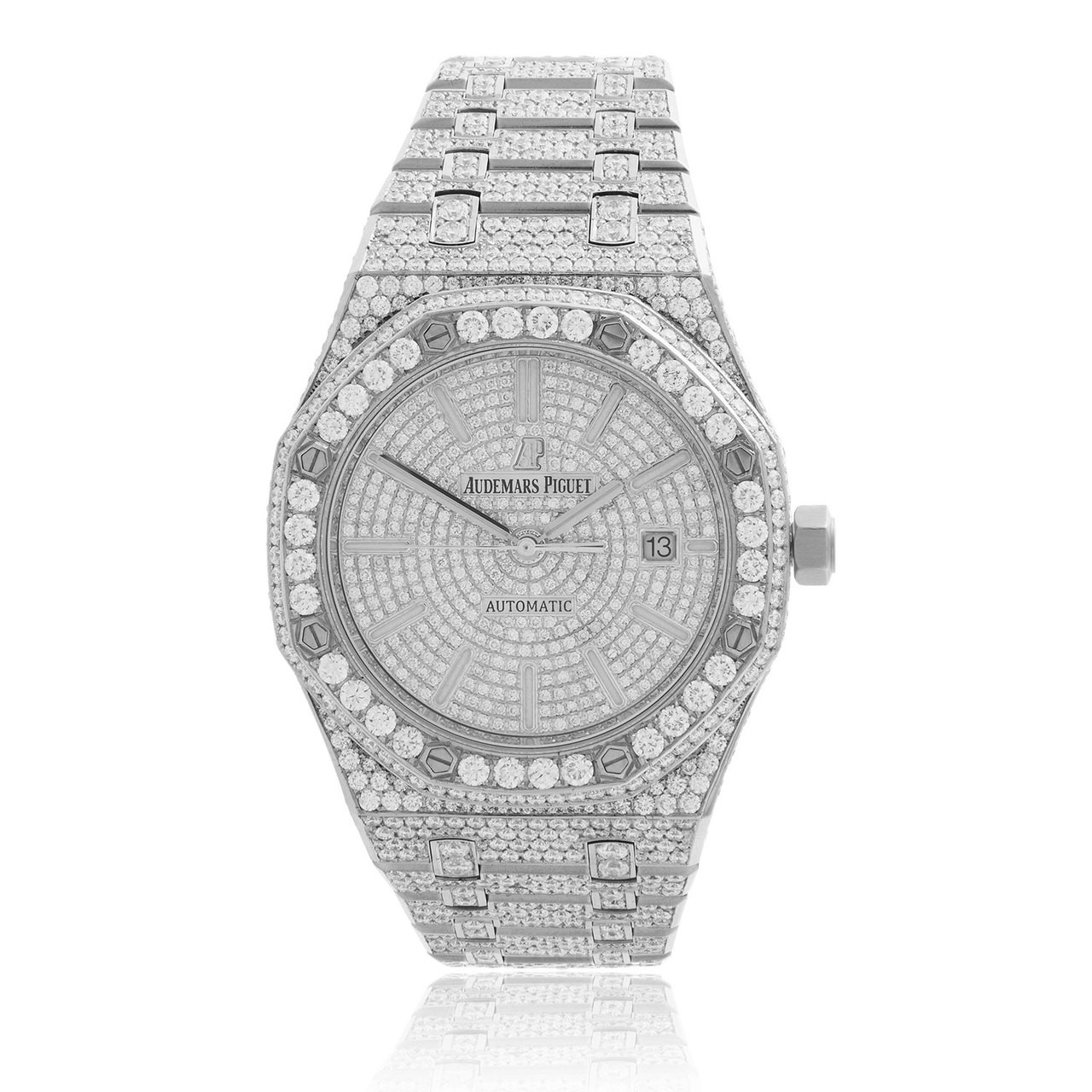 Audemars Piguet Royal Oak Stainless Steel 20ct Diamond Watch