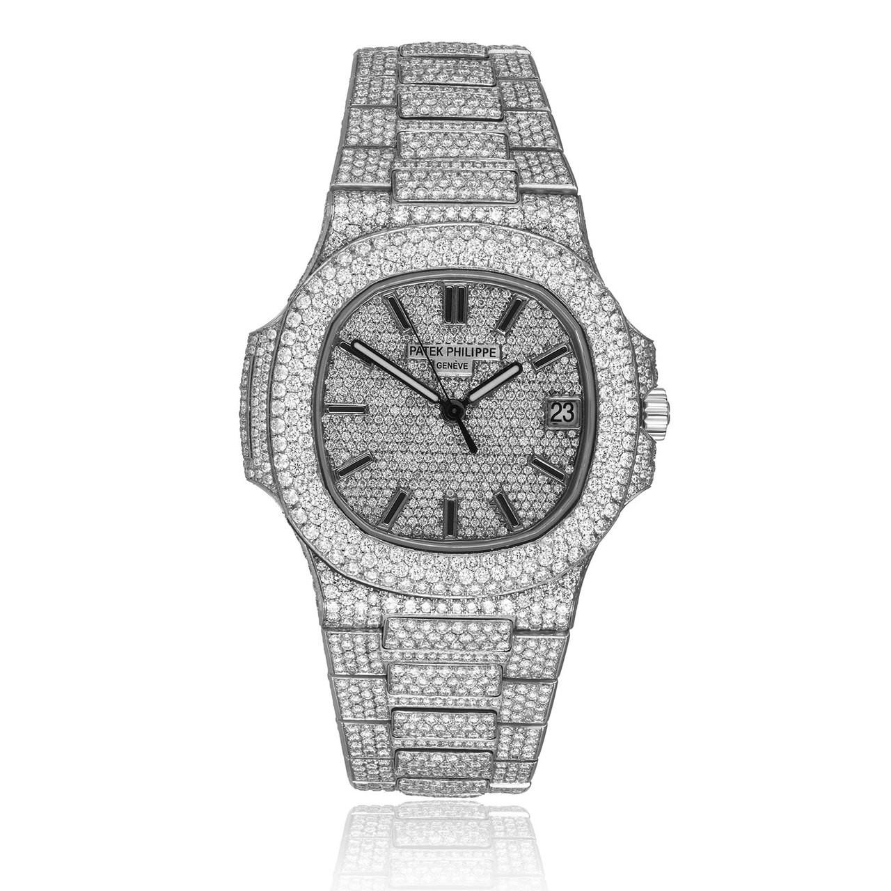 Patek Philippe Nautilus 5711 1a Stainless Steel 23 5ct Diamond Watch