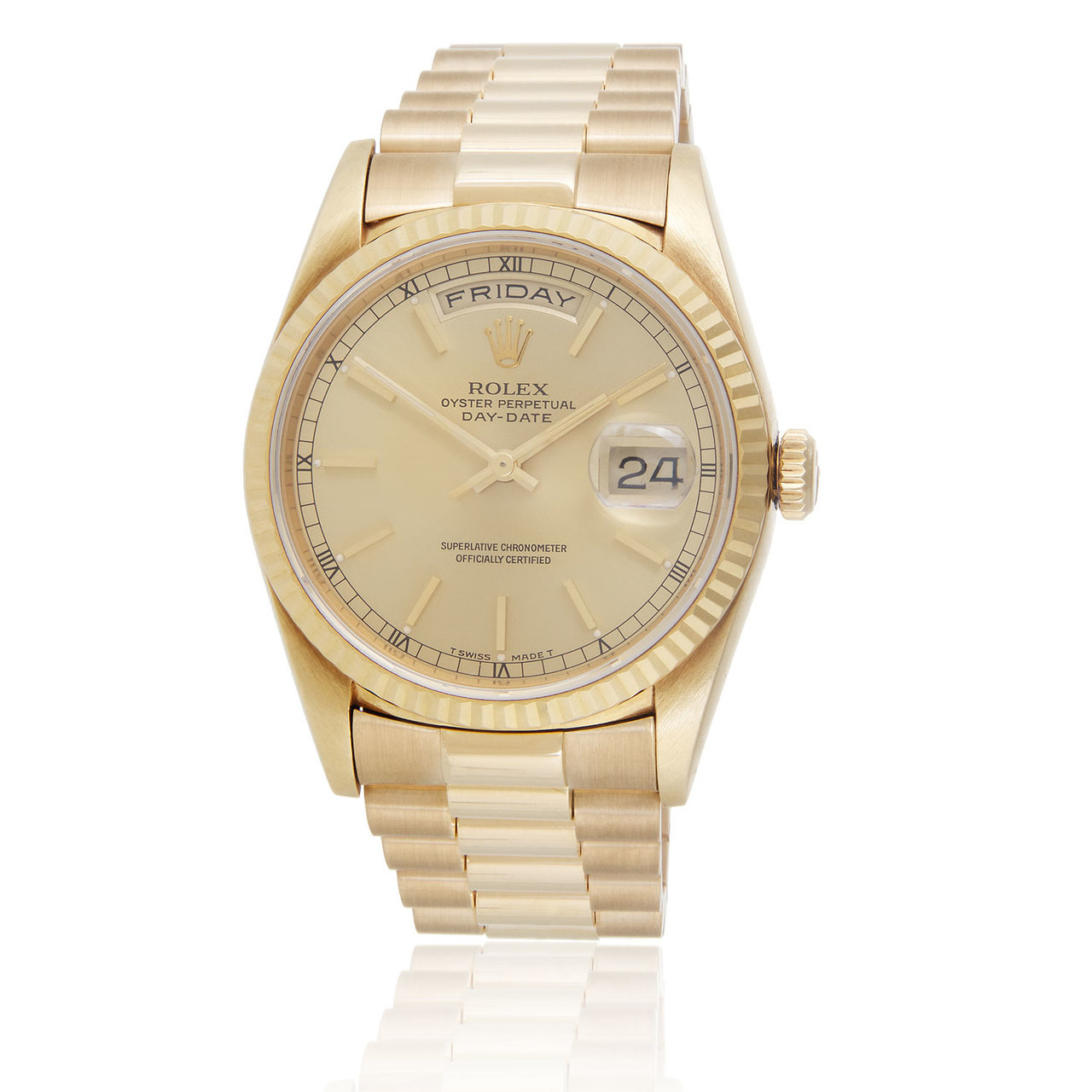 c2619079a5a9 Rolex Presidential Day-Date 18k Yellow Gold Automatic Men s Watch - Shyne  Jewelers