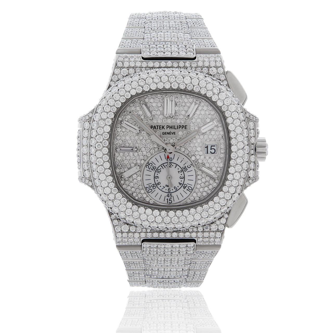 d15fbe64fcd Patek Philippe Nautilus 5980 27.8ct Diamond Men's Watch - Shyne Jewelers