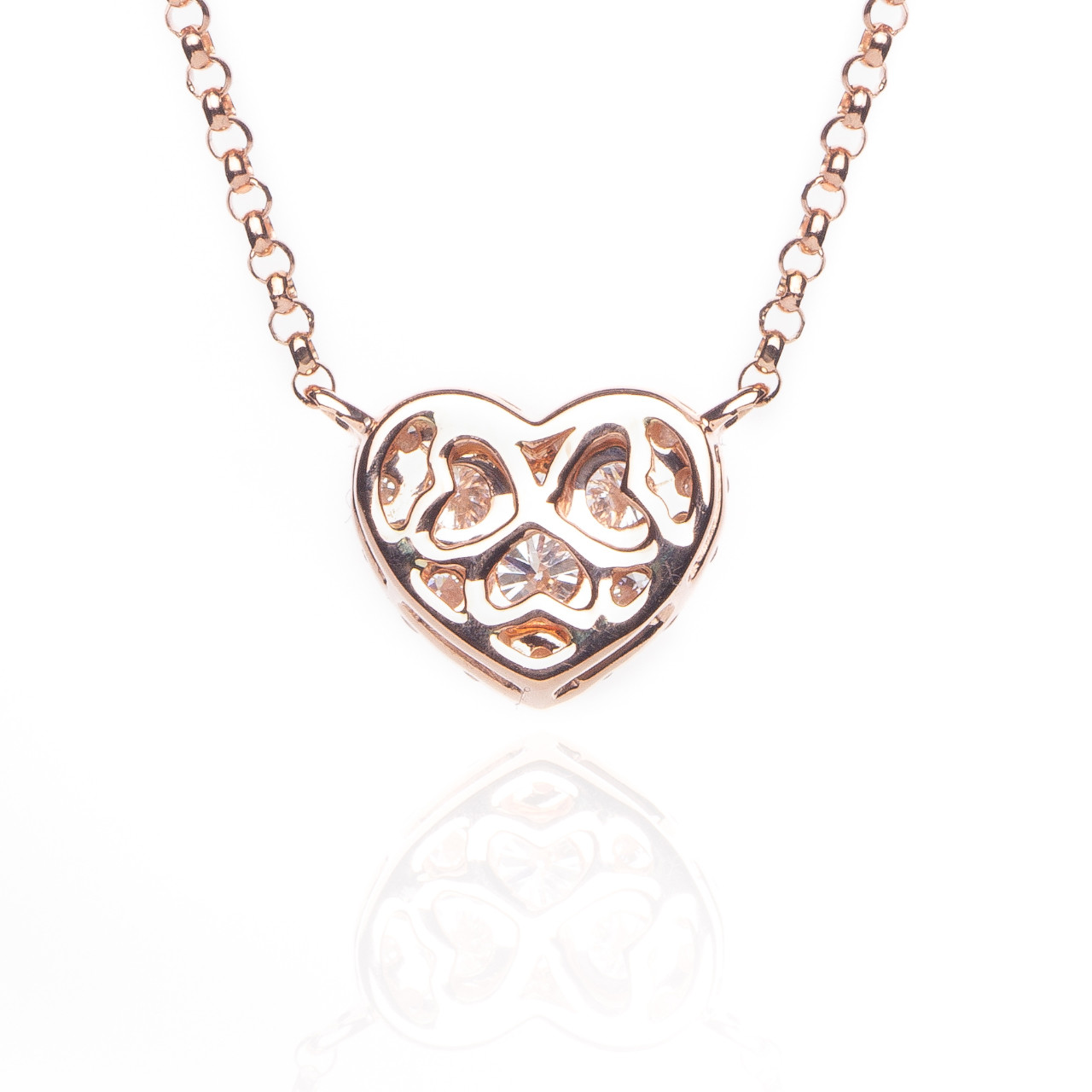 Details about  /0.50Ct Round Cut Diamond Womens Heart Pendant Necklace In 14K White Gold Finish