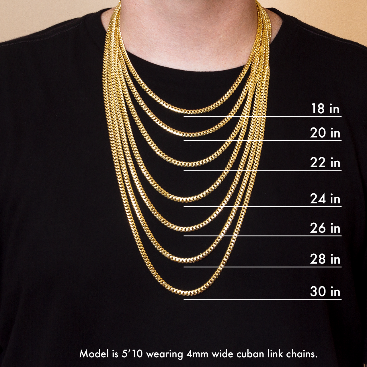 Cuban Link Chain For Sale >> 14k Gold Miami Cuban Link Chain 2 5mm