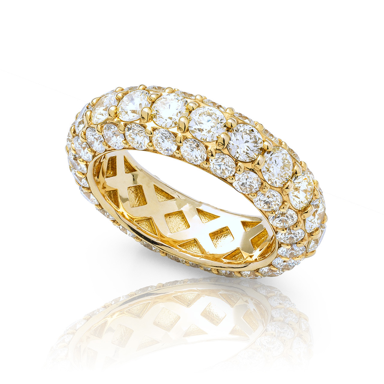 f1b93f2cd3c59 14K Yellow Gold 8.77ct Diamond Single Row Eternity Band