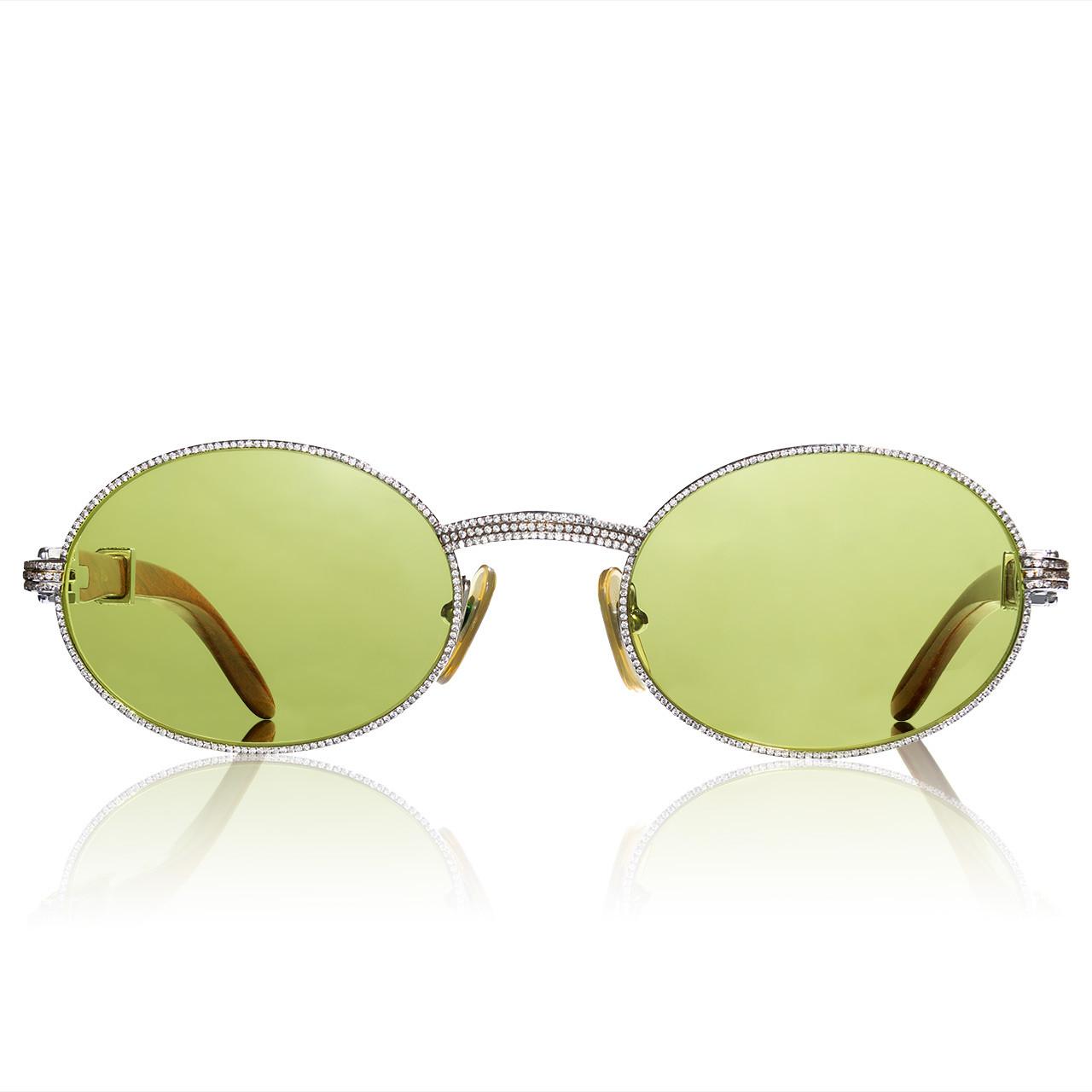 58b4b800c59 Custom Diamond Vintage Cartier Giverny Glasses - Shyne Jewelers