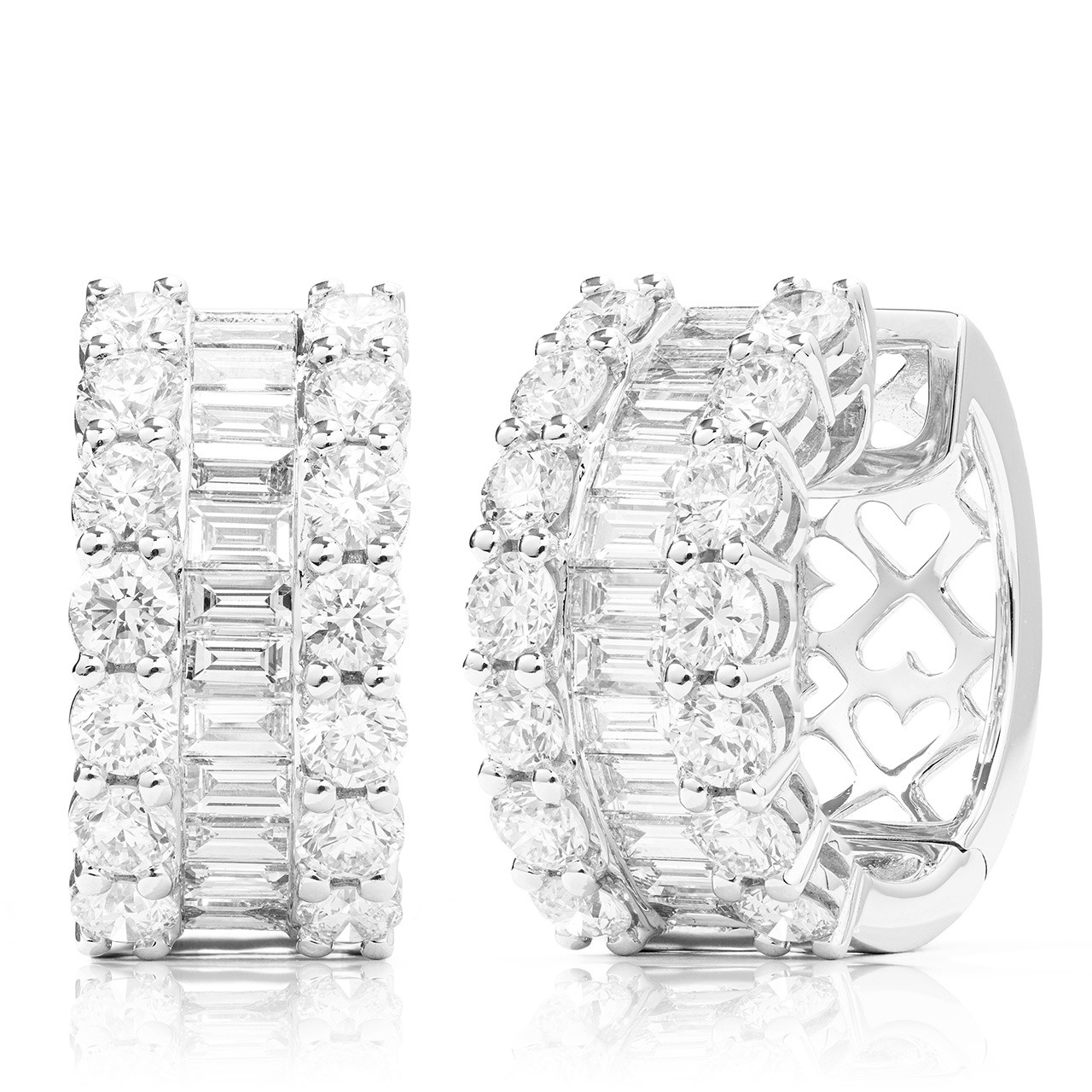 2c088a5715b6e By Photo Congress || Baguette Diamond Hoop Earrings