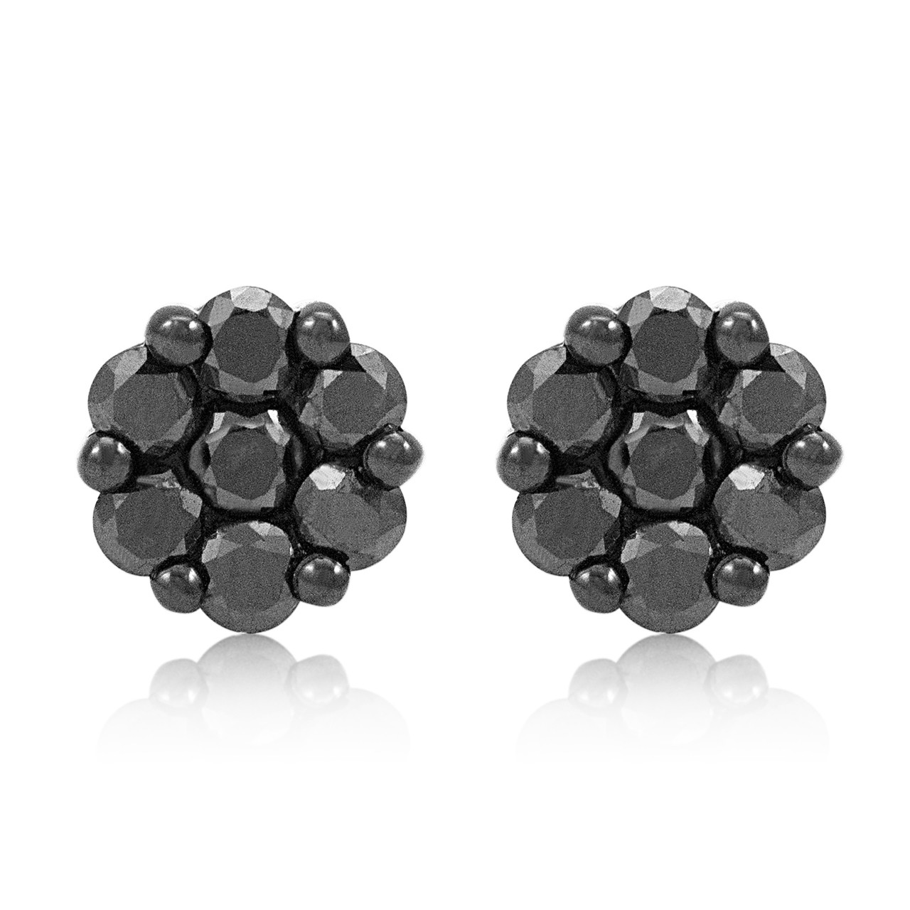 fb8225e26a1 10k Black Gold 1.30ct Black Diamond Studs - Shyne Jewelers