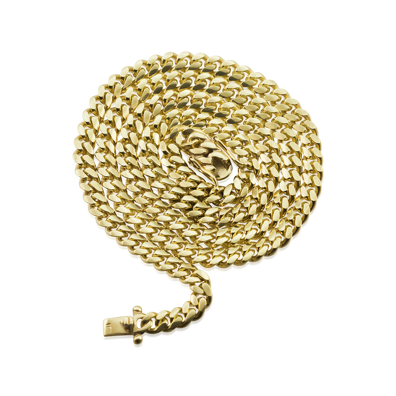 10k Gold Cuban Link Chain >> 10k Yellow Gold 5mm Miami Cuban Link Chain 26in