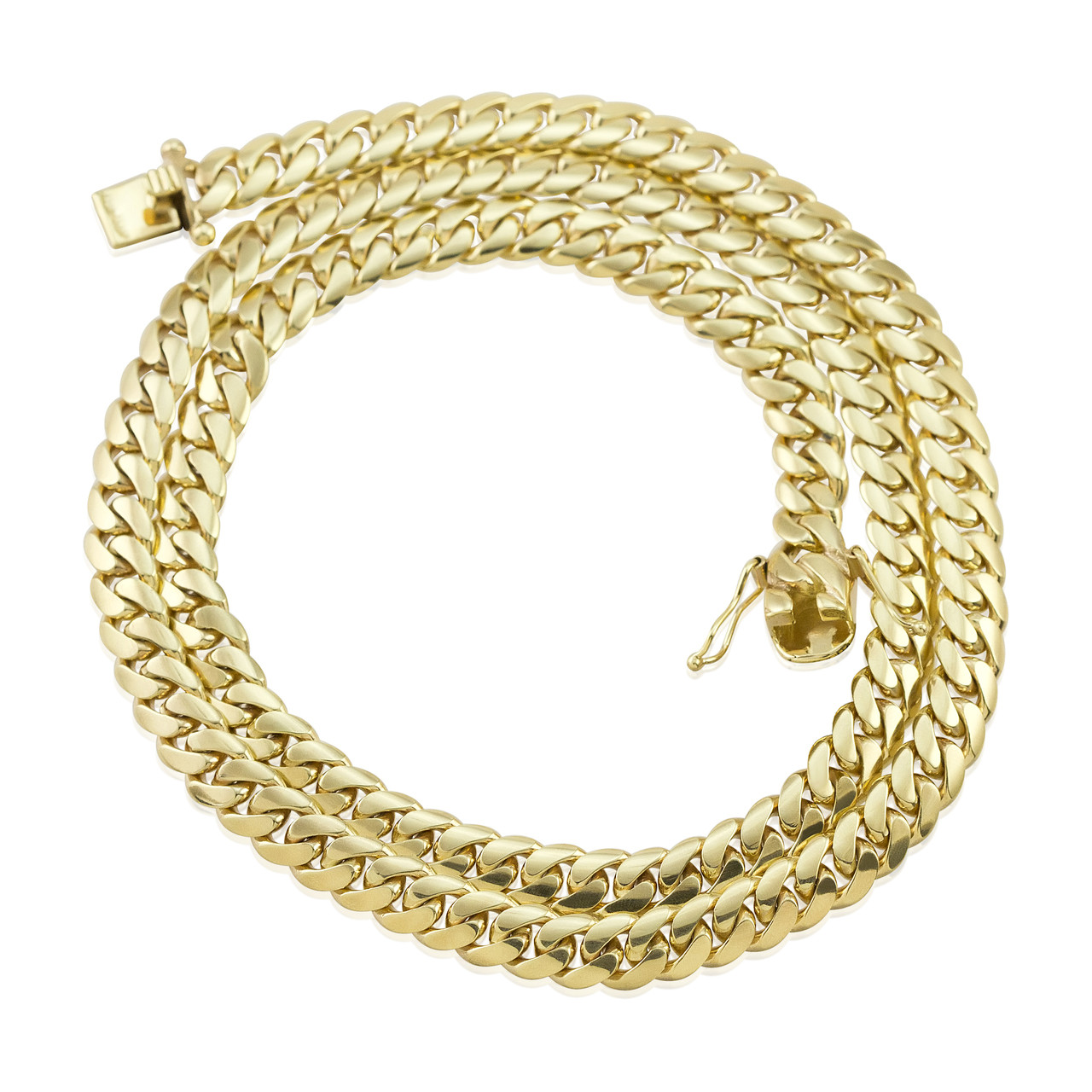 10k Gold Cuban Link Chain >> 10k Yellow Gold 9mm Miami Cuban Link Chain 30in