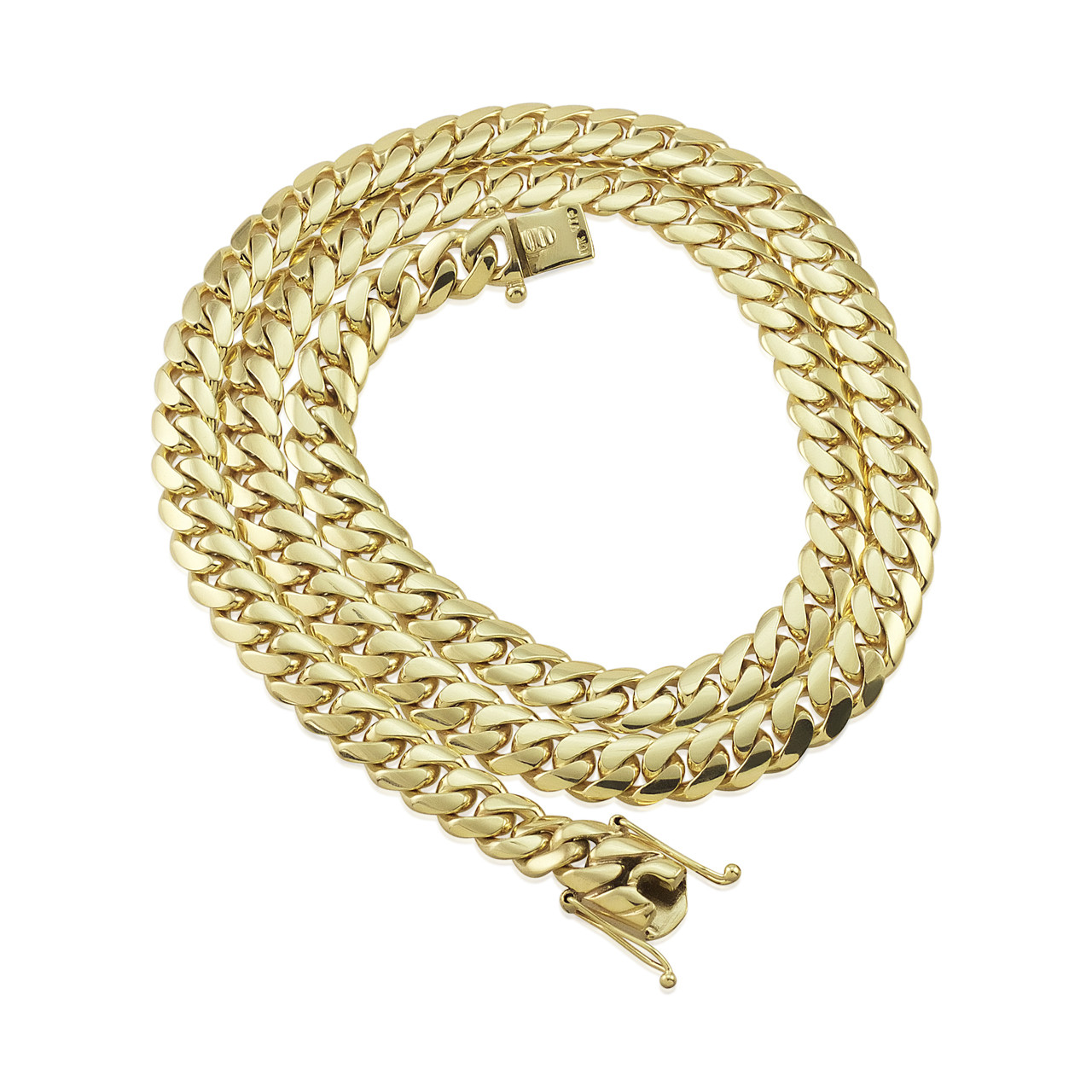 10k Gold Cuban Link Chain >> 10k Yellow Gold 16mm Miami Cuban Link Chain 31in
