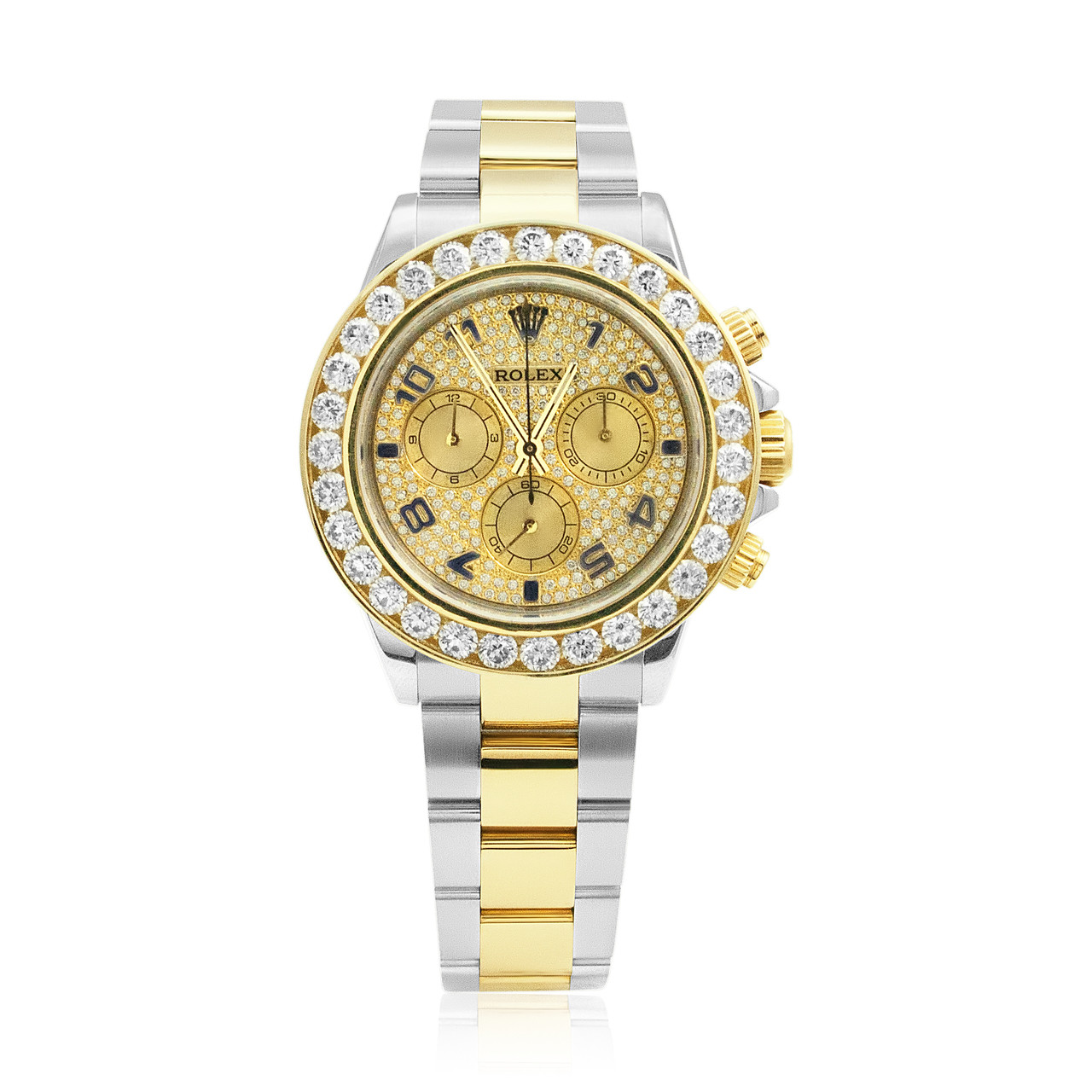 Rolex Cosmograph Daytona Stainless Steel 18k Gold Diamond Automatic Men S Watch 116523