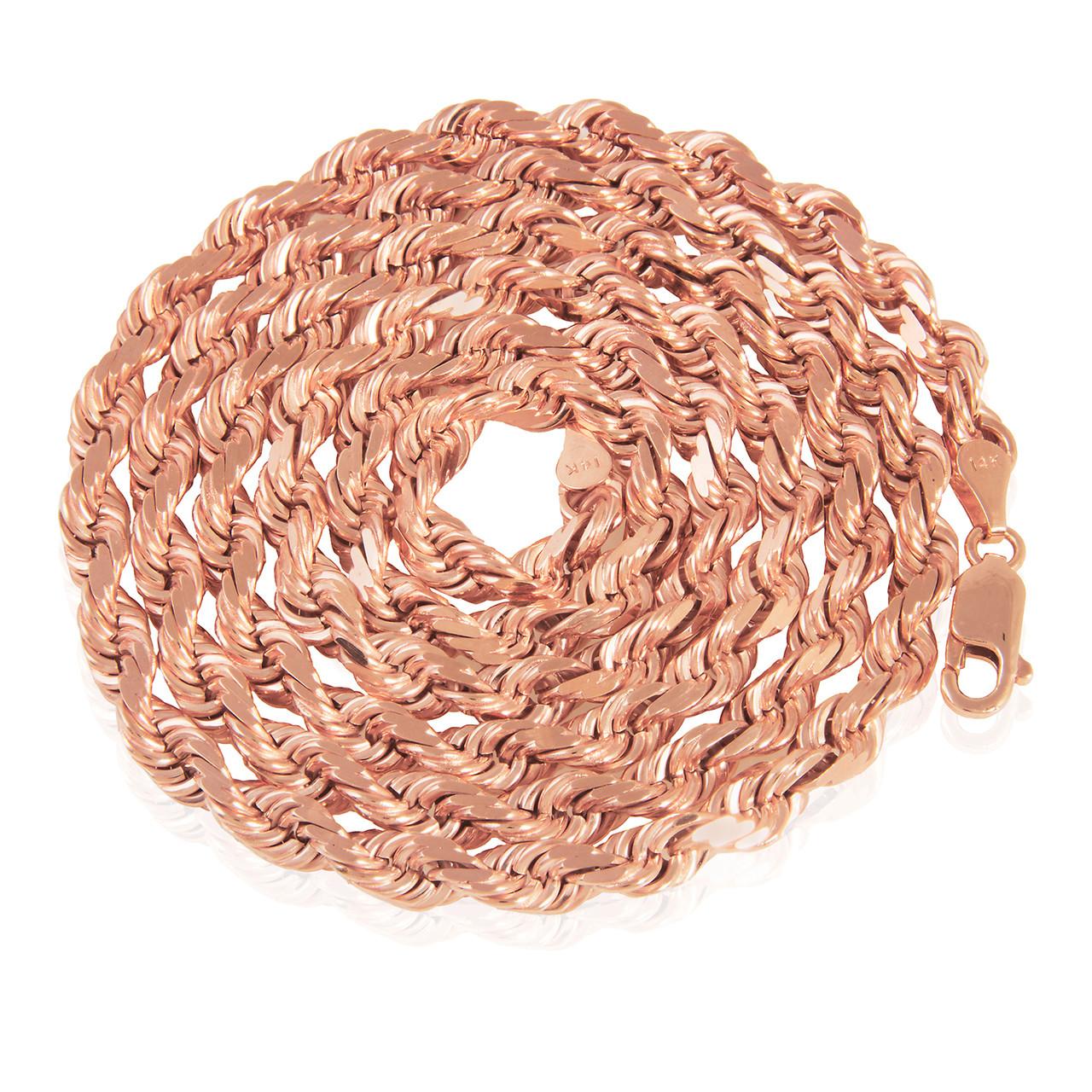 14k Rose Gold Rope Chain - Shyne Jewelers 4e925d64e419