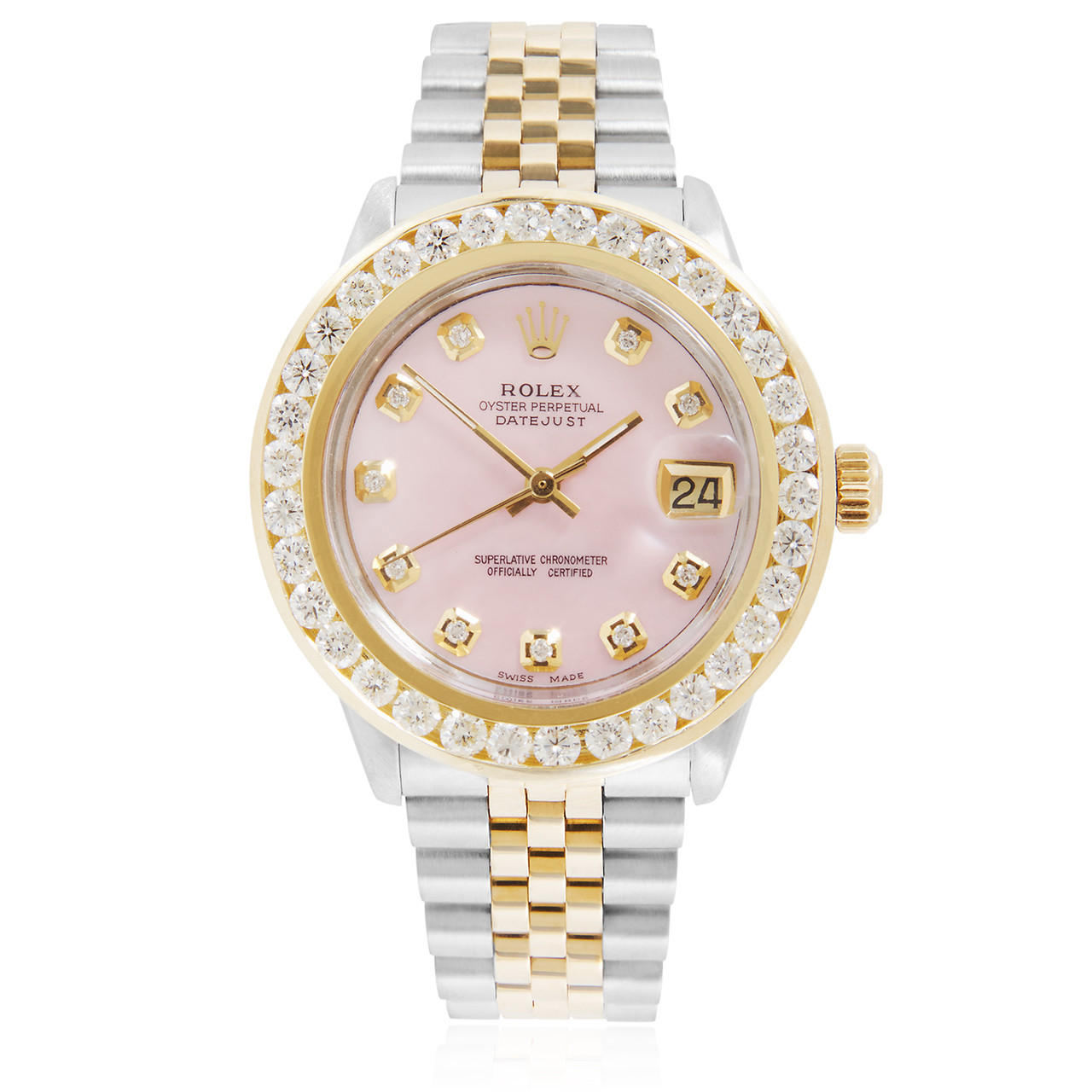Rolex DateJust 4ct Diamond Automatic Women\u0027s Watch
