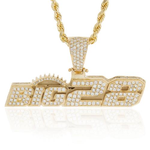 10k Yellow Gold Custom Big28 Pendant - Shyne Jewelers 41c6a09da
