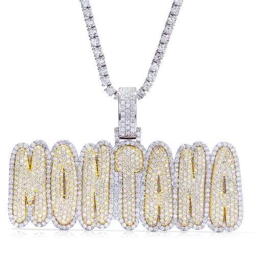 Custom Gold & Diamond Memorial Picture Pendant - Shyne Jewelers