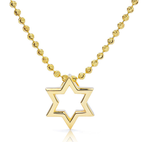 baec99282e0 14k Yellow Gold Small Star of David Pendant