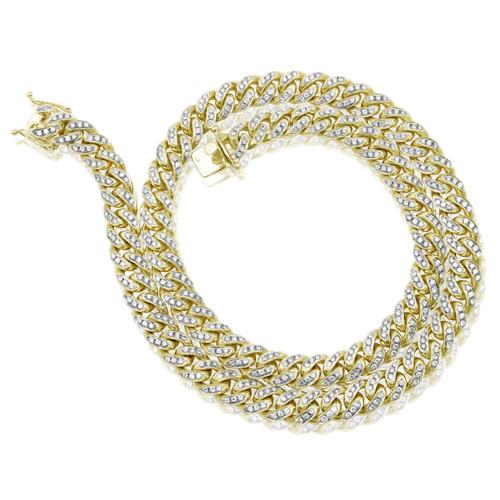 Shyne Jewelers. 10k Yellow Gold 18ct Diamond Miami Cuban Link Chain 30in 7c958eb02557
