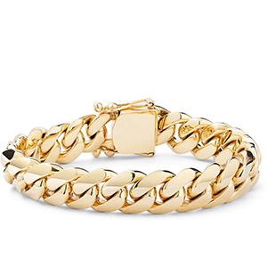 Mens Gold and Diamond Bracelets