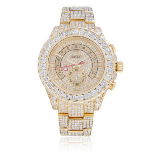 3db424f4d Rolex Yacht-Master II 18k Yellow Gold 35ct Diamond Automatic Men's Watch - Shyne  Jewelers