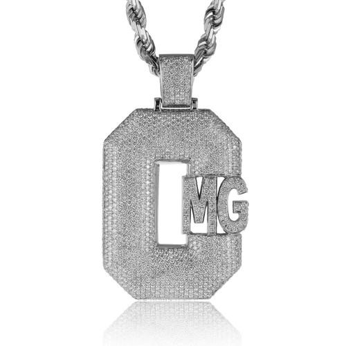 c41e5bcccf439 10k White Gold Custom Diamond 'CMG' Pendant