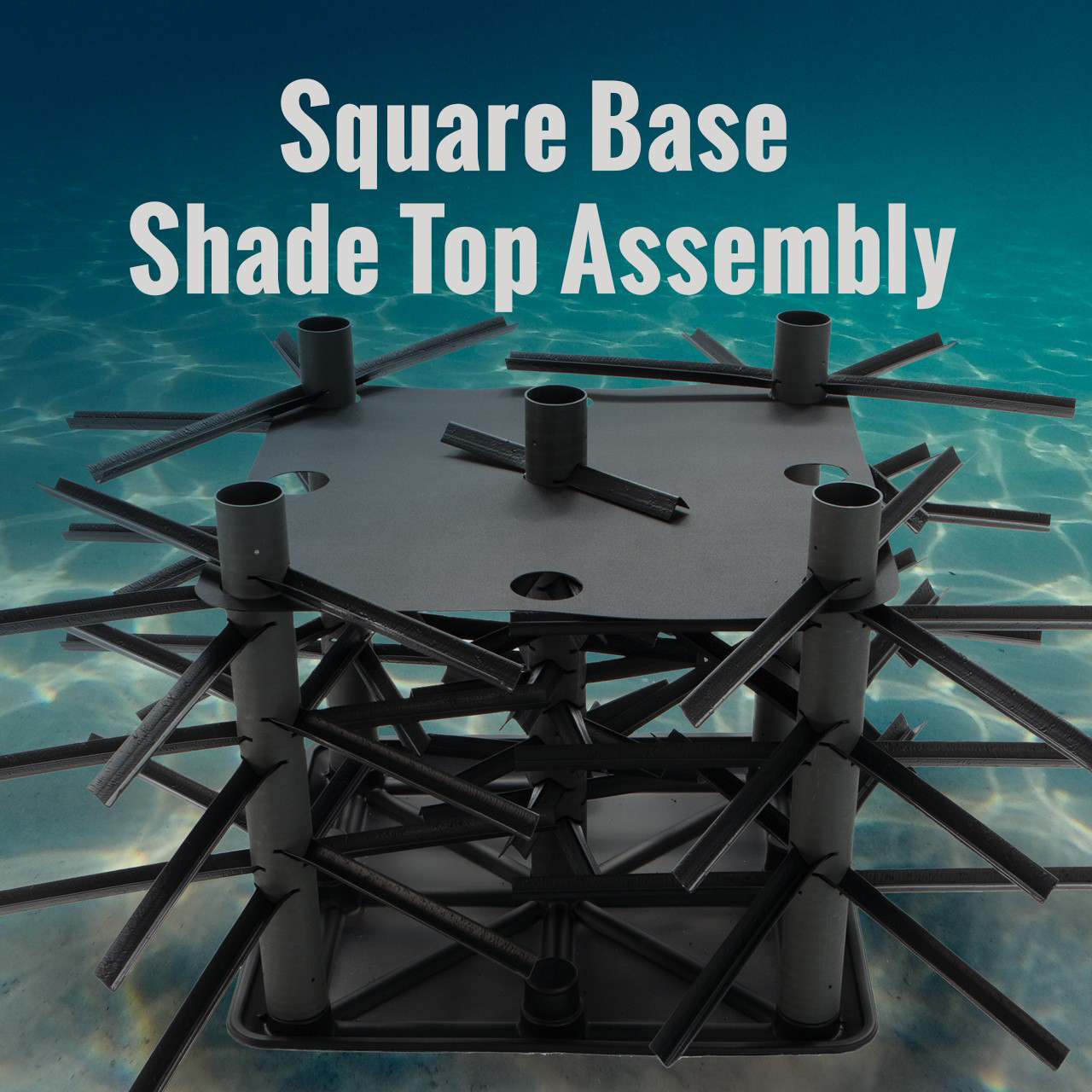Square Base and Shade Top Assembly