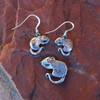Sterling Silver Rat Earrings