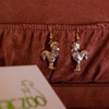 14K Solid Gold Rooster Earrings