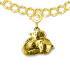 14K Solid Gold Ferret Angel Charm