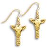 14k Solid Gold Giraffe Earrings