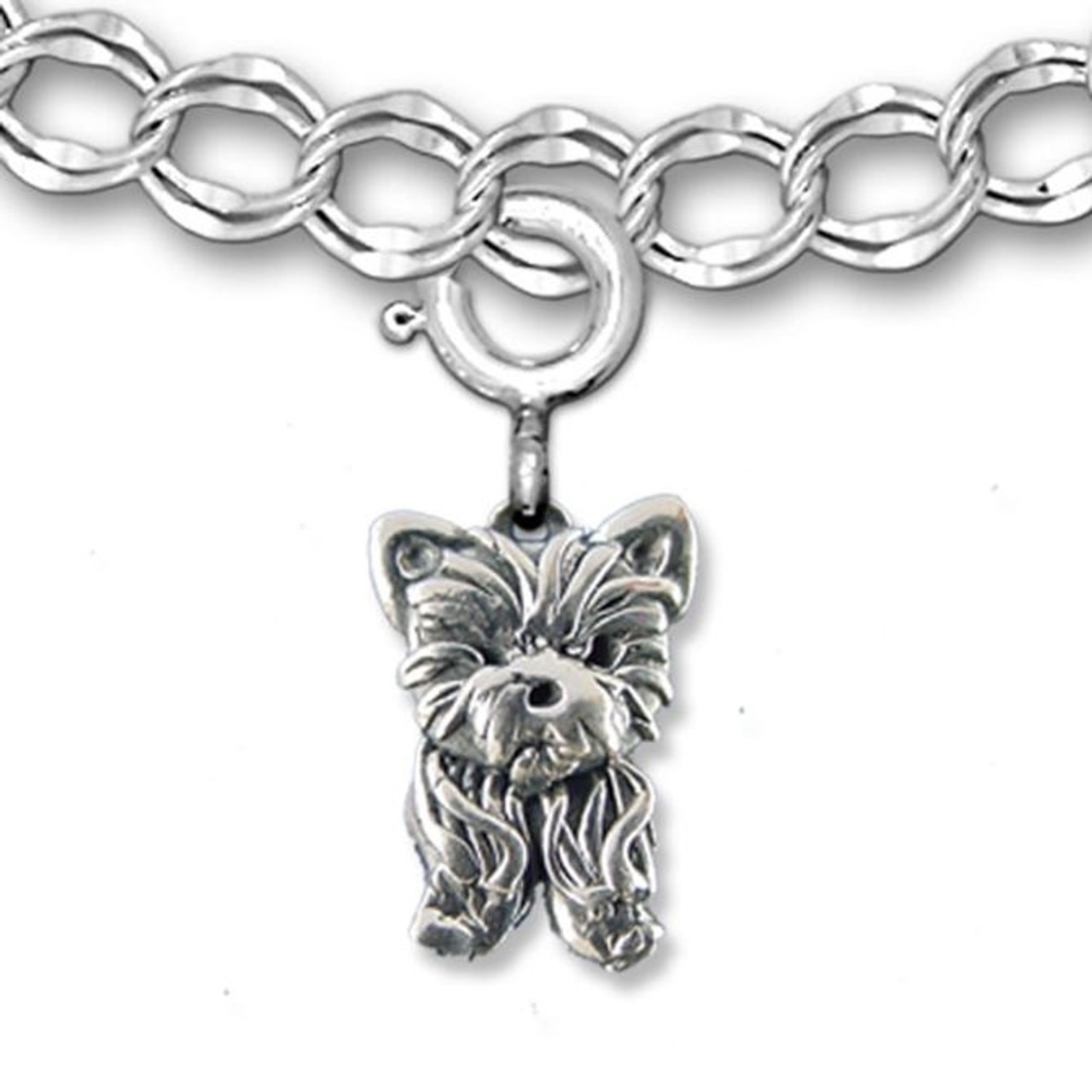 Yorkshire Terrier Charm-Argent Sterling 925-YORKSHIRE Chien AKC TOY ENGLAND NEUF