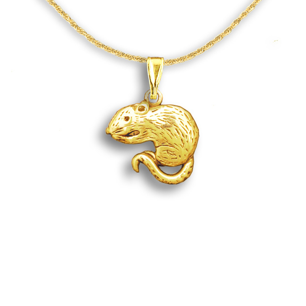 Rat pendant Pocket pet jewelry Rodent necklace