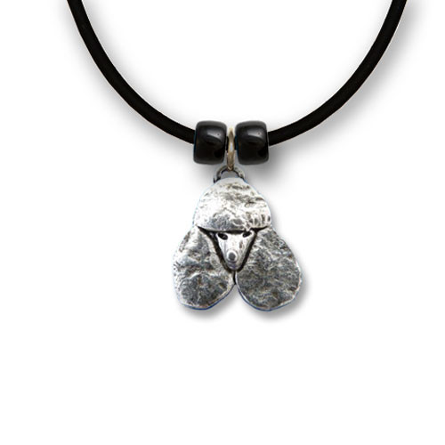 Pewter Poodle Necklace