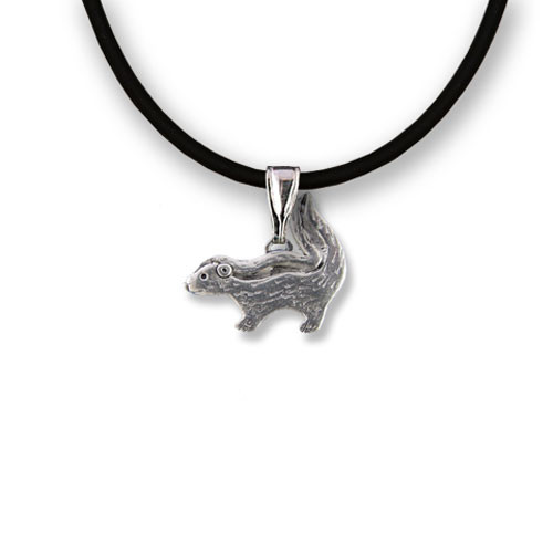 Pewter Skunk Necklace