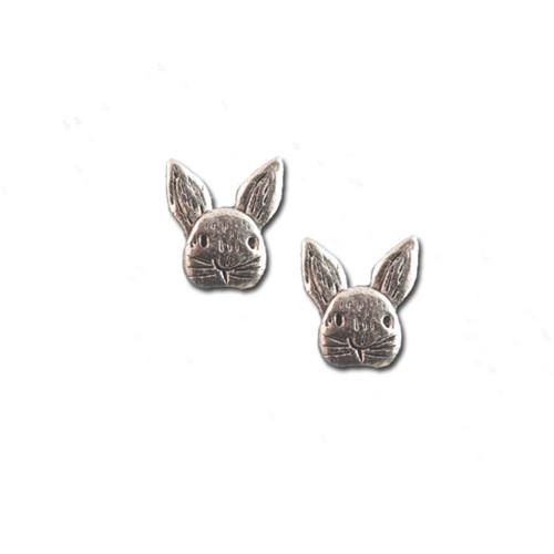 Pewter Rabbit Post Earrings