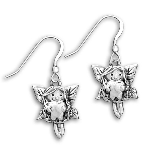 Sterling Silver Tooth Fairy Earrings